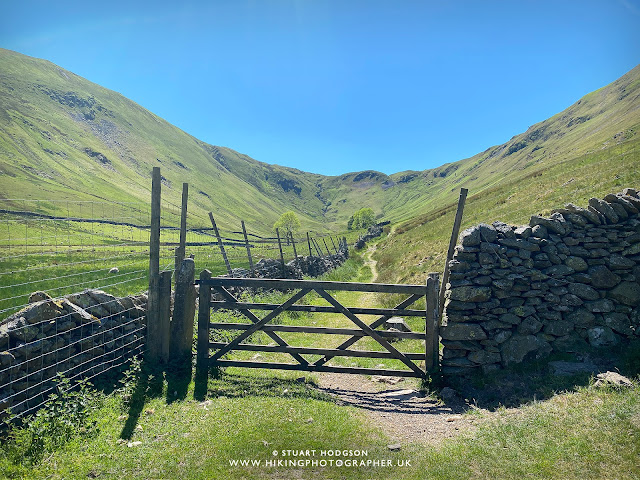 Ullswater walk Howtown Sandwick Glenridding best walk route map Steamer Boat Lake District lakes