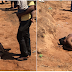 Domestic Violence: Man Beats His Wife Mercilessly In Public In Kwara State [Photos]