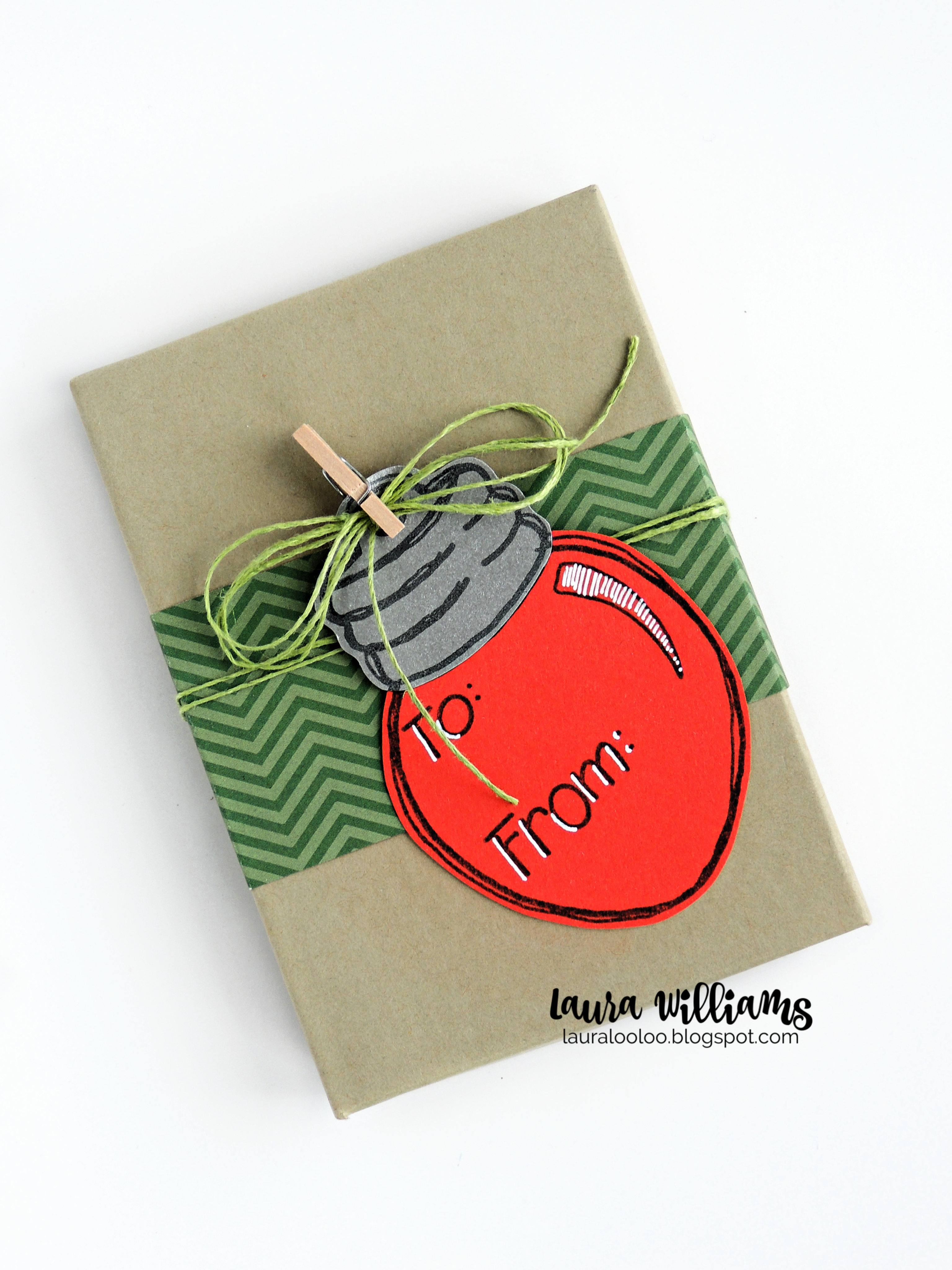 Add festive tags to Christmas gifts with stamps from Impression Obsession. This adorable Christmas light bulb stamp with To: and From: is the sweetest handmade detail for making holiday giftwrapping extra special