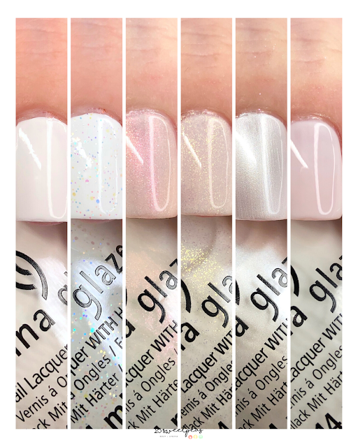 China Glaze White Hot Monochromatic Shades Collection