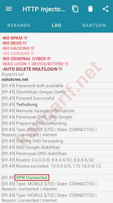 ssh websocket http injector lite terkoneksi