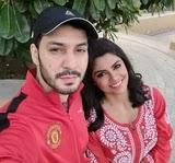 Sayantani Ghosh with her boyfriend