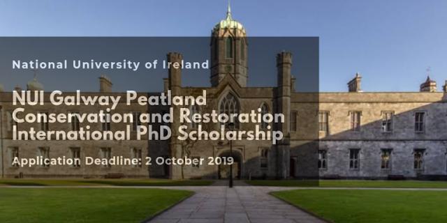 منحة تقدمها جامعة أيرلندا الوطنية NUI Galway لدراسة الدكتوراه