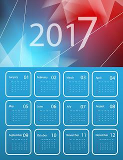 2017カレンダー無料テンプレート216