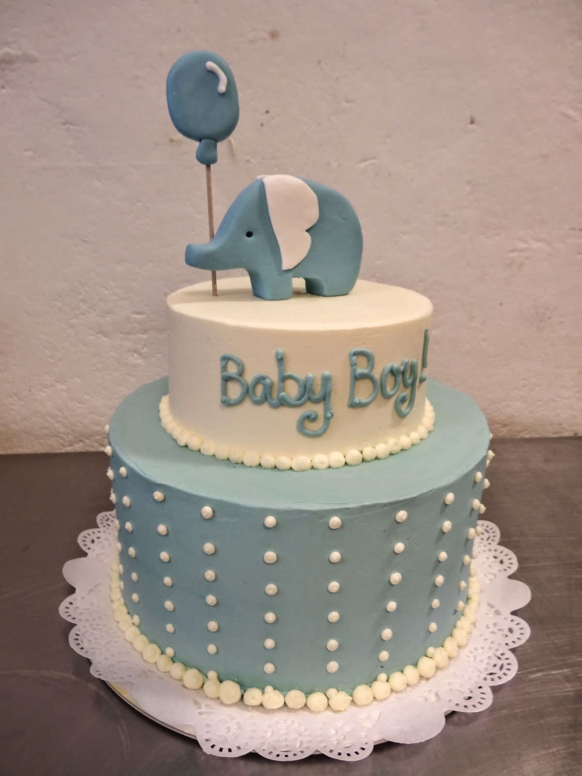 Simple Baby Boy Cakes