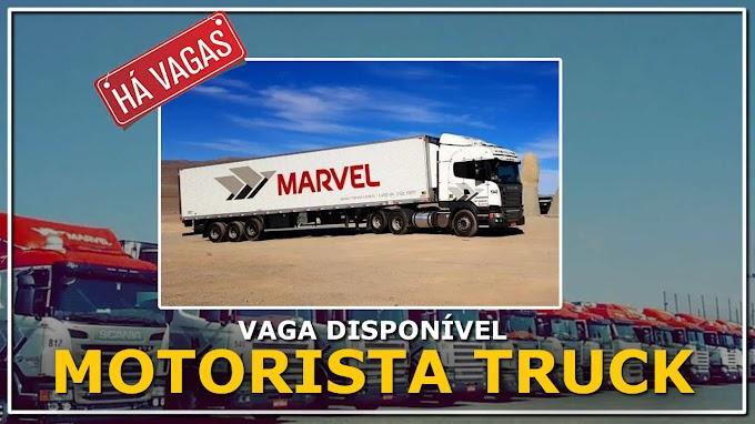 Transportadora Marvel abre vagas para Motorista Truck categoria D