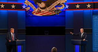 US election debate between Donald Trump and Joe Biden