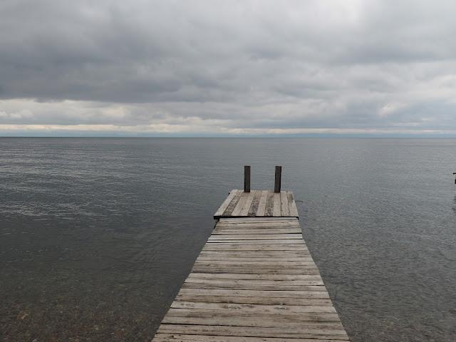 Байкал в пасмурную погоду