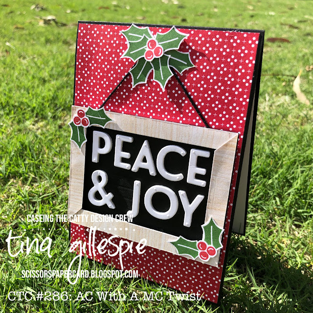 scissorspapercard, Stampin' Up!, CASEing The Catty, Playful Alphabet Dies, Peace & Joy, Heartwarming Hugs DSP, In Good Taste DSP, Itty Bitty Christmas