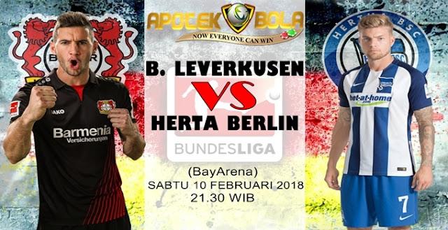 Prediksi Bayer Leverkusen vs Hertha Berlin 10 Februari 2018
