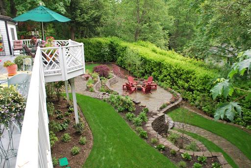 Backyard hill design ideas