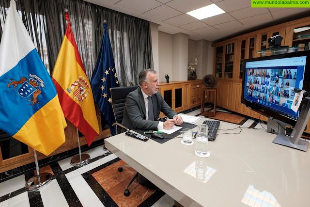 El presidente de Canarias traslada al Senado su intervención para la reunión de la Comisión General de Comunidades Autónomas