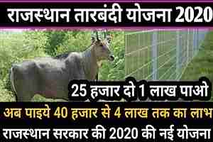 [Application] राजस्थान तारबंदी योजना 2020 ऑनलाइन आवेदन पत्र