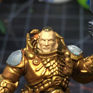 Adeptus Custodes Shield-Captain WIP face and head