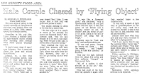Hale Couple Chased By Flying Object - Michigan Bay City Times 3-15-1969
