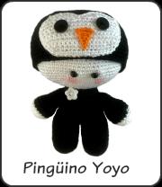 Pingüino yoyo amigurumi