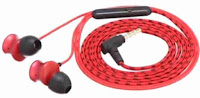 boAt BassHeads 152 with HD Sound, in-line mic, Dual Tone Secure Braided Cable & 3.5mm Angled Jack Wired Earphones