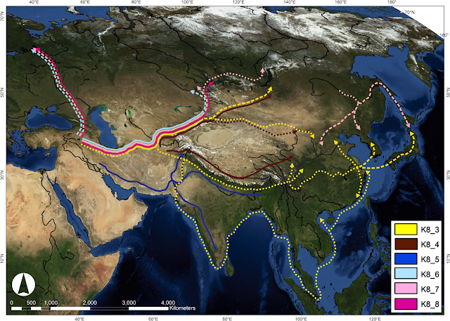 Barley heads east: Living plant varieties reveal ancient migration routes across Eurasia