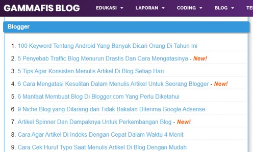 Cara Membuat Sitemap Blogger Yang Keren