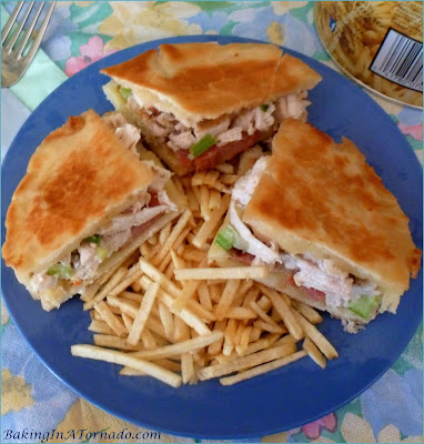 Cordon Bleu Grilled Cheese Pockets are the perfect summer lunch. Use leftover chicken and ham and these delicious sandwiches come together in minutes | Recipe developed by www.BakingInATornado.com | #recipe #sandwich
