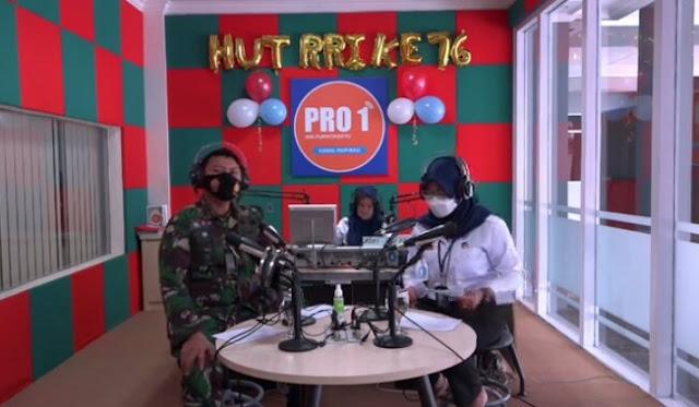 Dalam Rangka HUT Ke-76 RRI, Dandim Purbalingga Didaulat Menjadi Penyiar Radio