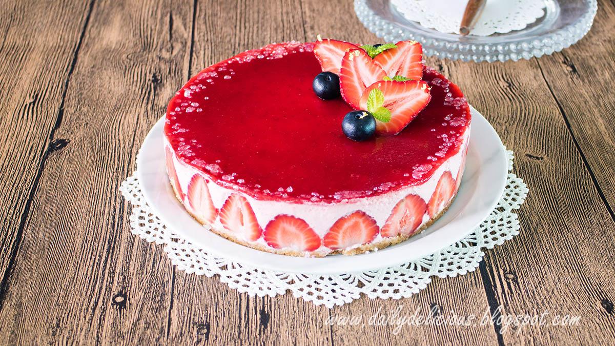 Strawberry Mousse Cake Recipe Video