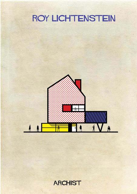 もし有名画家が建築物を作ったら?ゴッホ、ピカソ、ダリの建築? ロイ・リキテンスタイン
