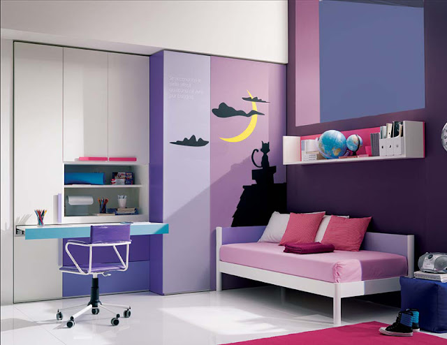 design ideas for a teenage girl's bedroom