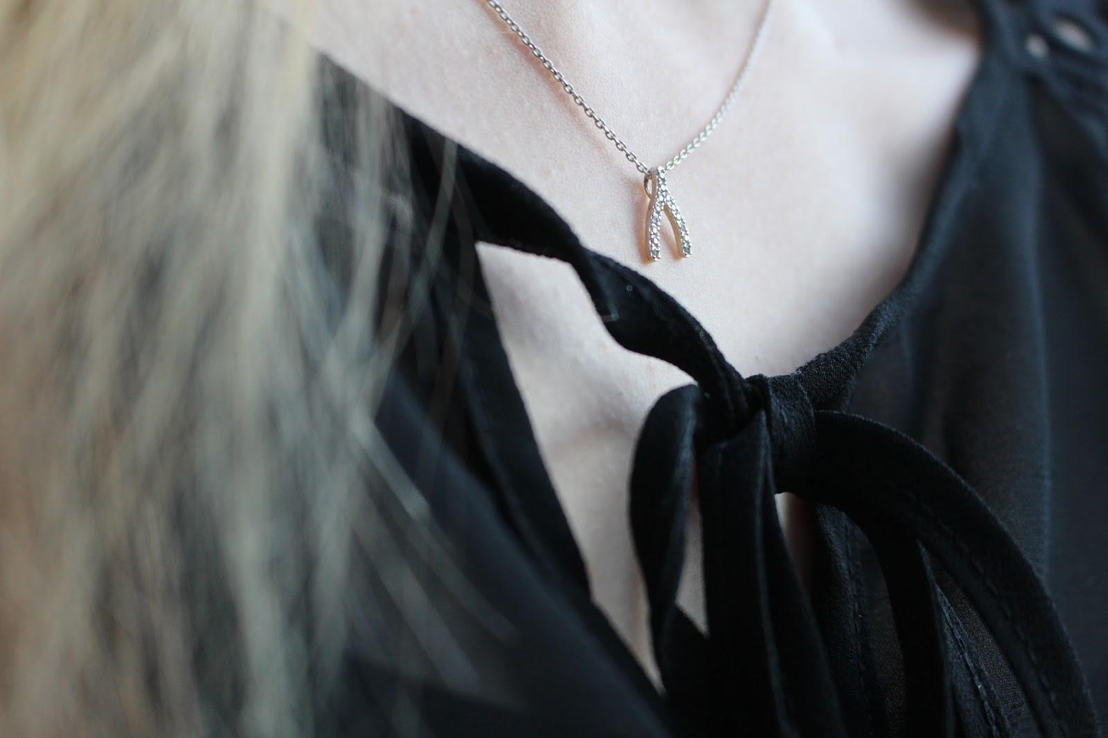 estella bartlett wishbone necklace