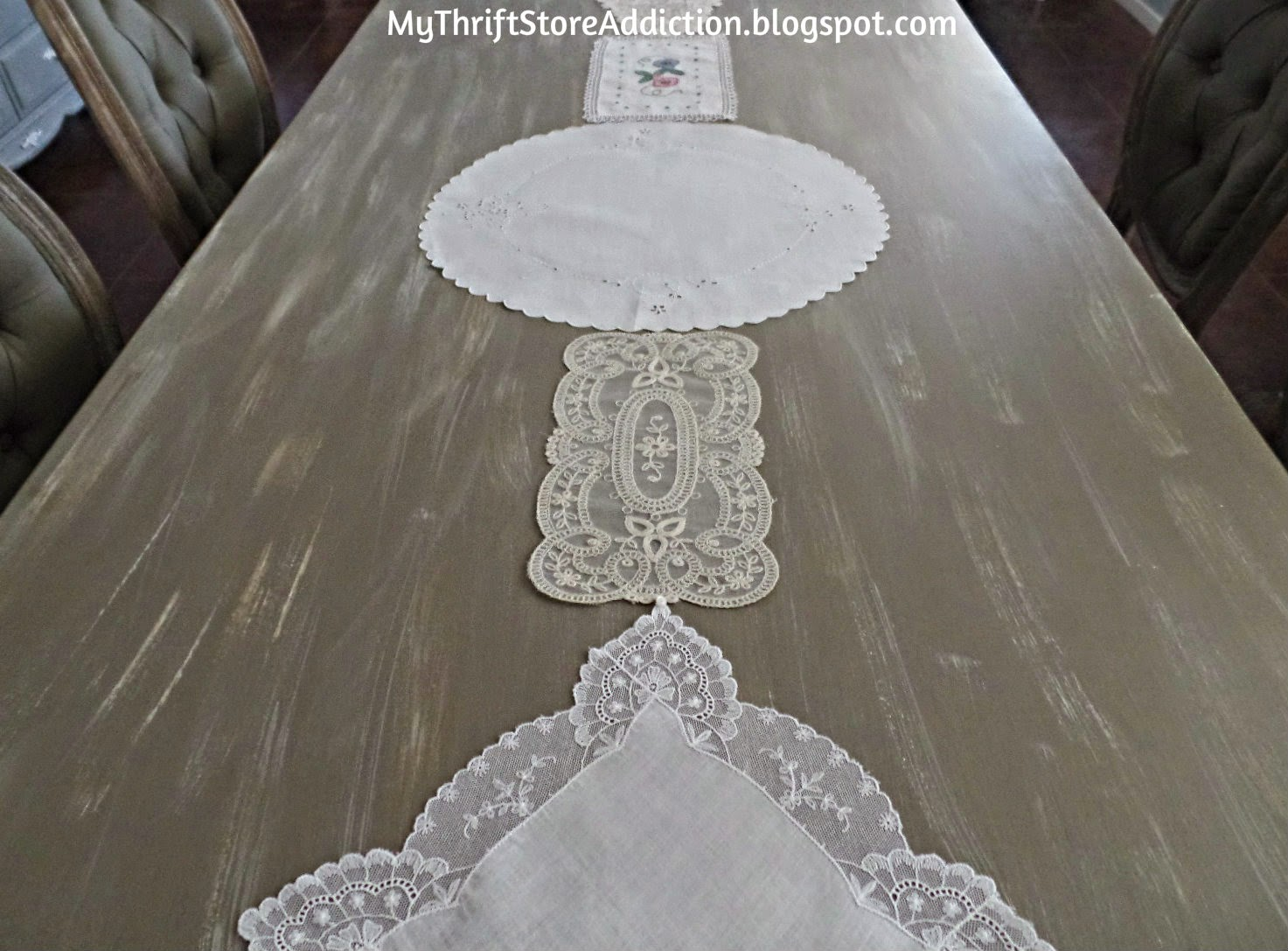 Vintage linen table  runner