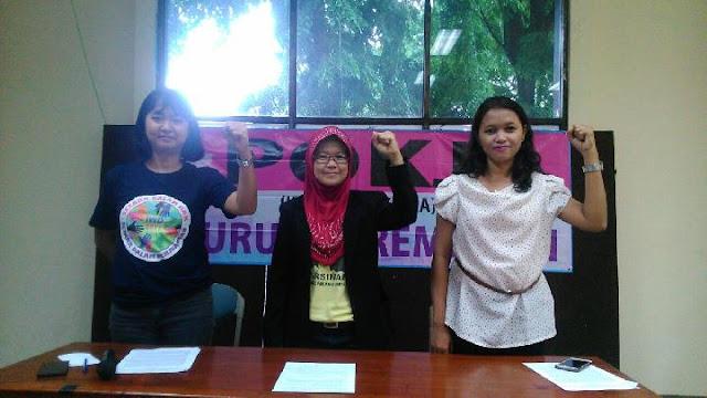 Buruh Perempuan Bersama KSPI Ajukan Tuntutan ke Anies Baswedan