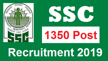Staff Selection Commission Recruitment 2019