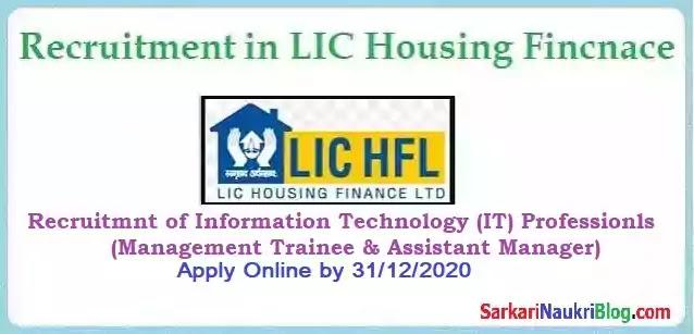 LIC Housing IT Professional Recruitment 2020