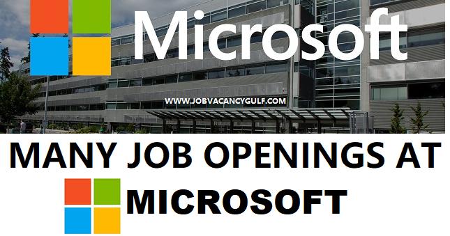 Latest Job Vacancies at MICROSOFT - job vacancy gulf