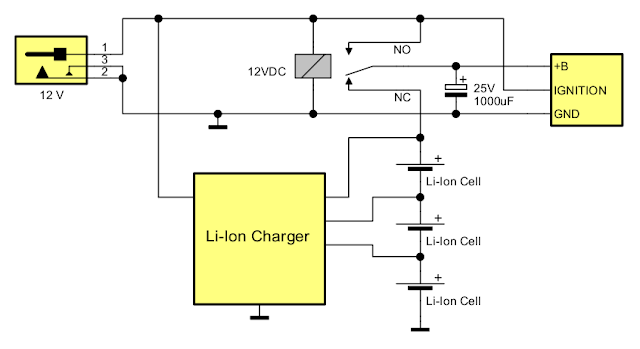 Power supply circuit for car audio devices
