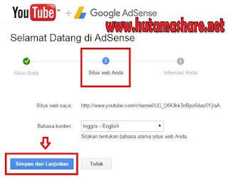 Pendaftaran Adsense Melalu Youtube