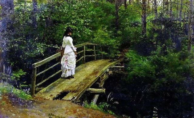 Quadro artista russo di Vera Repina