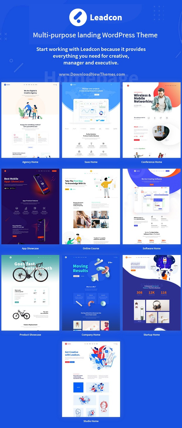 Multipurpose Landing Page WordPress Template