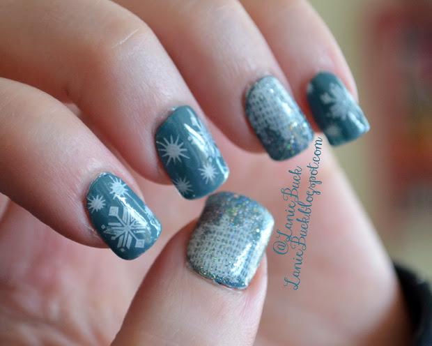 diy beauty- snowflake nail art