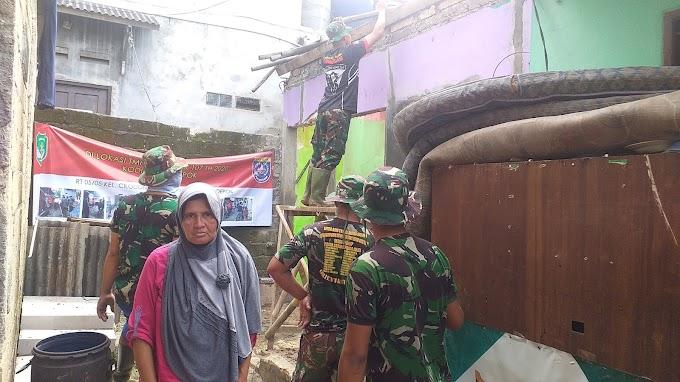 RTLH Milik Tukang Taman Diperbaiki Satgas TMMD Ke-107