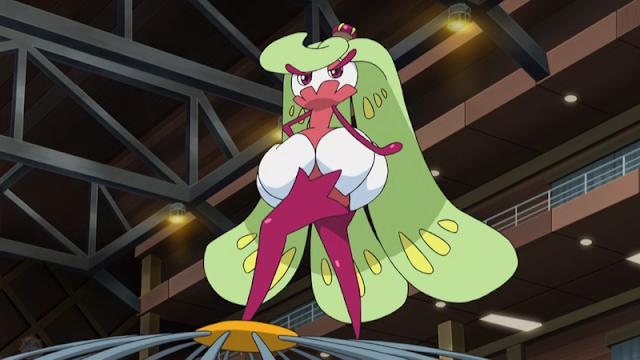 Tsareena Lulú Anime Pokémon