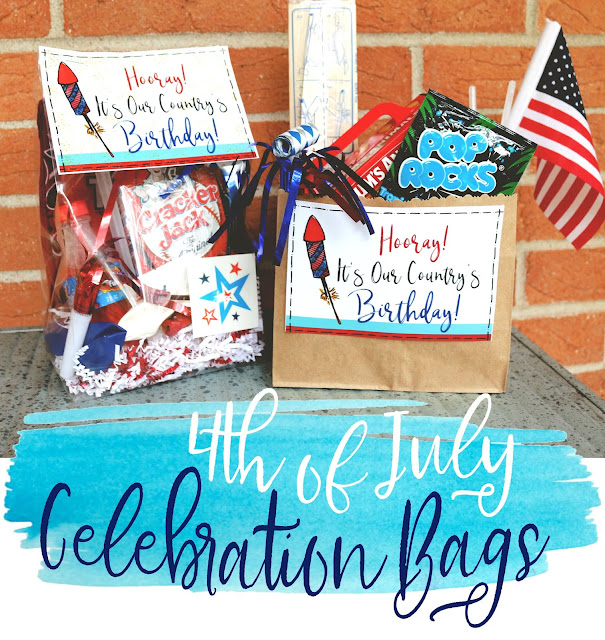 Fourth July Celebration Favor Bag