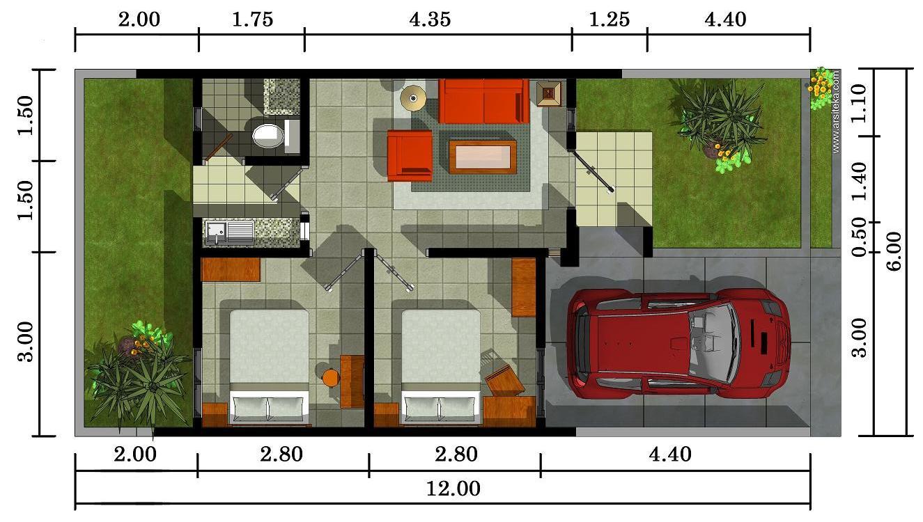 Contoh Sketsa Rumah Minimalis Yang Cantik Dan Tampak Mewah