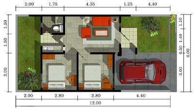 sketsa rumah minimalis tipe 36 luas 72