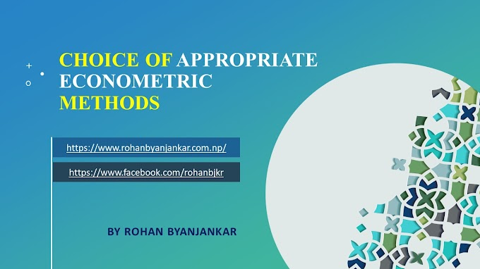 Choice of appropriate econometric methods