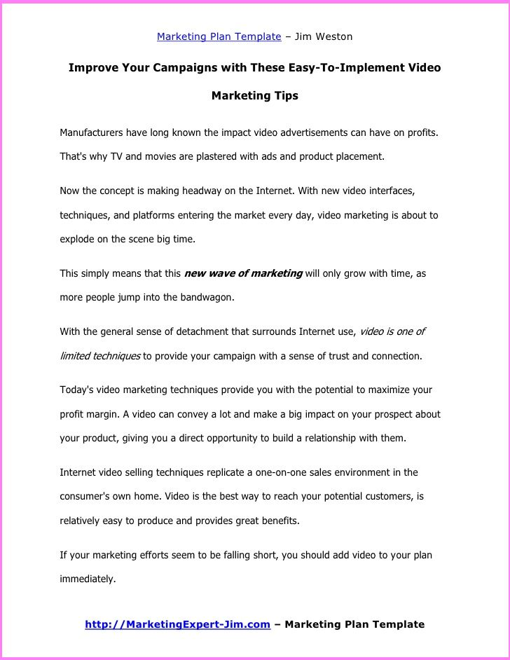 a template for marketing stretegy marketing plan template