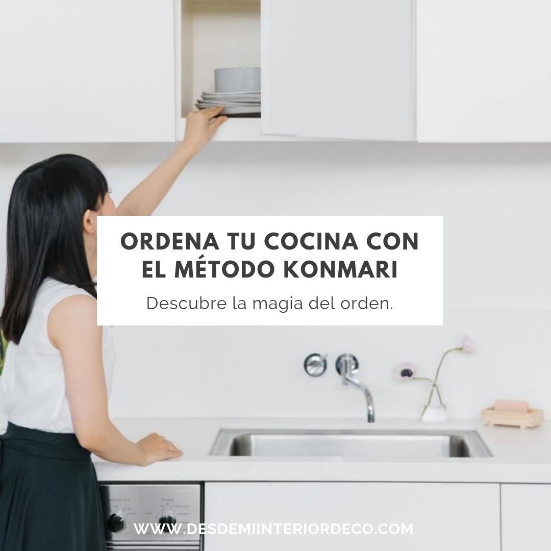 Cómo organizar y ordenar tu cocina con el método Konmari de Marie Kondo