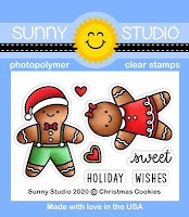 Sunny Studio Stamps Christmas Cookies Gingerbread Man and Girl Holiday Mini 2x3 Clear Stamp Set