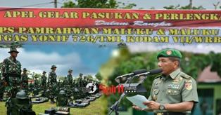 Kasdam VII/Wrb ; Prajurit Yonif 726/Tamalatea Siap Amankan Daerah Rawan