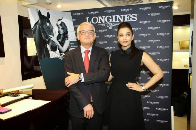 Aishwarya Rai wears Gucci for the launch of the Longines boutique in Mumbai